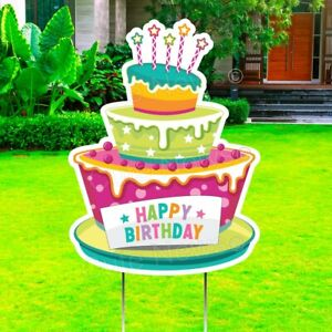 Happy Birthday Cake Yard Sign Honk Its My Birthday Party Lawn Decoration Card $29.95