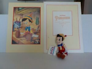1993 Commemorative Disney Pinocchio Lithograph with 8