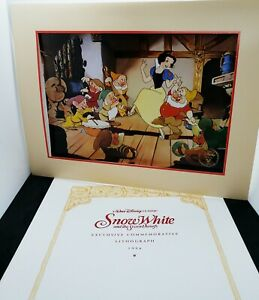 1990s - SNOW WHITE DISNEY Exclusive Commemorative Lithograph OFFICIAL - NEW! $12.97