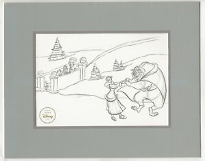 Disney#x27;s Beauty and the Beast Enchanted Christmas Lithograph $7.49