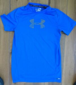 ***Under Armour boys YXL Youth Extra Large UPF 30+ blue fitted athletic shirt*** $9.99