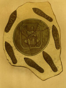 Decoration Archaeology Medal Seal Saint Paul Lithography 19e Century $24.90