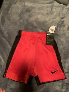 Nike Boys Youth XS Red Black Polyester Dri Fit Athletic Basketball Shorts $9.00