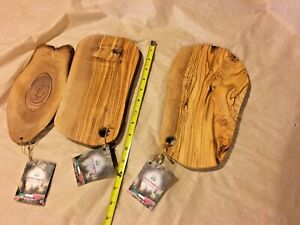 3 ~ NEW Arte Legno Olive Wood Unique Shape Cutting Cheese Boards MADE IN ITALY