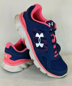Under Armour Womens Athletic Shoes Sneakers Blue Pink Size US 7.5 $14.94