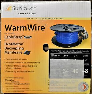 SunTouch Warm Wire Radiant Under Floor Heating Wire 40sq.ft. 120V 81014501 NEW