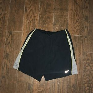 Mens Nike Dri Fit 7 Distance Reflective Black Volt Lined Running Shorts Sz. L $23.99