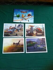 Disney Store Exclusive Lithograph Planes 10x14 set of 4 NEW *Free Shipping* $11.99