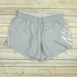 NIKE Women's Dri Fit Built In Brief Athletic Running Shorts XS Extra Small Gray $8.99