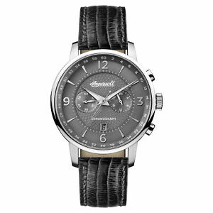Ingersoll Men#x27;s I00601 Grafton Gray Dial 42mm Leather Watch $59.99