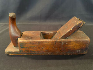 Antique Primitive Woodworking Horn Hand Scrub Plane EARLY Handmade ARNS GUSSTAHL