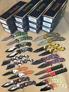 Wholesale Lot 20Pc Spring Assisted Open Tactical Pocket Folding Knife