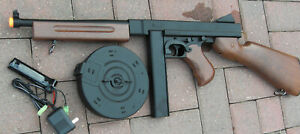 Great Quality Auto Electric Airsoft Gun Thompson Tommy Gun M1A1 Wood Color $65.00