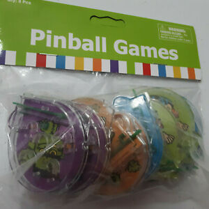 HALLOWEEN 8 Character Pinball Games Kids Party Favors Toys