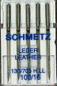 GERMAN SCHMETZ SEWING MACHINE LEATHER NEEDLES Size 100 16 HEAVY DUTY STRONG GBP 4.50