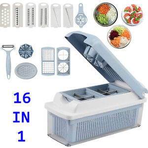 16In1 Kitchen Tool Food Vegetable Salad Fruit Peeler Cutter Slicer Dicer Chopper