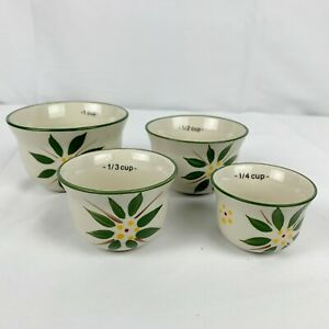 Temptations Measuring Cups Nesting Cup Old World Green Set of 4