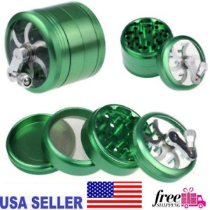 Grinder 4 Layers Herb Weeds Smoking Muller Grass Spice Smoke Crusher Crank