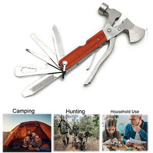 Camping Multi tool Tool 16 in 1 Survival Gear Stainless Steel For Hiking Fishing