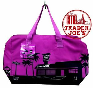 NEW 🔥 Trader Joe#x27;s Insulated Reusable Shopping Bag 8 Gallons Purple 🔥 joes