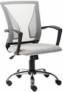 Ergonomic Office Mesh Chair Swivel Mid back Home Computer Desk Chair Metal Base