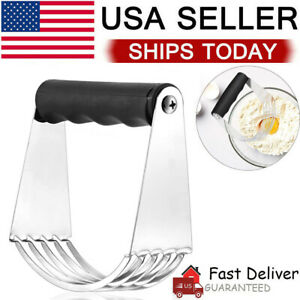 Stainless Steel Soft Grip Pastry Blender Dough Cutter Flour Mixer Cake Cheese US $7.99