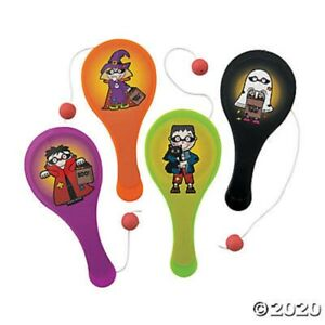 HALLOWEEN 8 Mini Character Paddleball Games Challenging Kids Party Favors