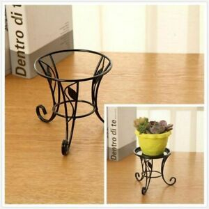 5#x27;#x27; Metal Outdoor Indoor Pot Plant Stand Garden Decor Flower Rack Wrought Iron $10.88