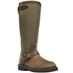 Danner 42752 Men#x27;s San Angelo 17quot; Brown Square Toe Hunting Snake Boots Shoes