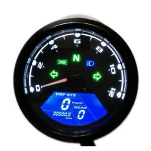 Motorcycle Odometer Tachometer LED Universal Racing Speedometer Gauge Meter Kits $41.31
