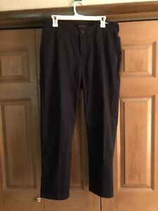 Forever 21 Mens Slim Fit Flat Front Chinos Black 32 Waist $19.99
