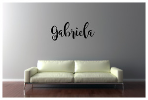 CUSTOM NAME WALL VINYL DECAL REMOVABLE STICKER LARGE 22X9.5quot;