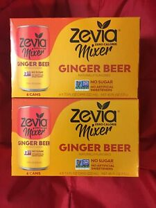 Zevia Zero Calorie Mixer Ginger Beer 2 Cases Of 6 12 7.5 Fl Oz Cans