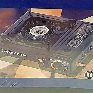 Portable Gas Burner Dual Function TruOutdoor Carrying Case Camping Propane