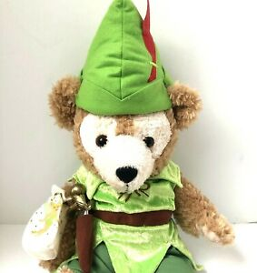 Disney rare Duffy Bear Peter Pan Costume Complete Outfit Hidden Mickey 17quot; $59.99