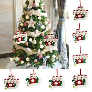 Personalized Survived Family of 2 Ornament 2020 Christmas Face mask Snowman
