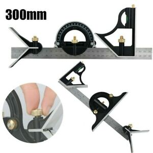 12quot; 300mm Combination Square Protractor Level Measure Measuring Angle Ruler US $13.99