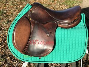 EUC 17quot; Marcel Toulouse Contact Leather Jumping Saddle $895.00