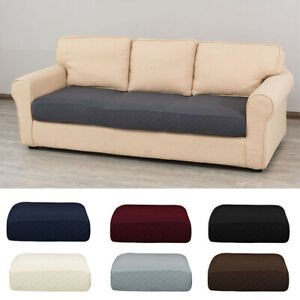 Universal Sofa Seat Cushion Cover Solid Color Stretch Couch Slipcover Protector