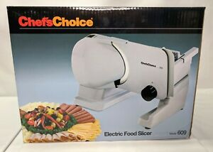 Chefs Choice Electric Food Meat Slicer Model 609 Cuts Deli Thin to 3 4 in. *NEW*