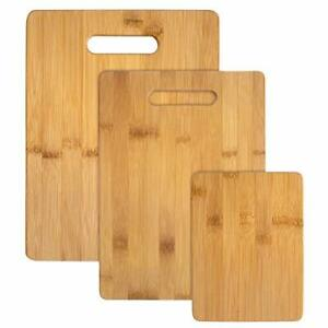 Totally Bamboo Cutting Board Set to Cut Foods 3 Pcs Preserve Knife#x27;s Sharpness