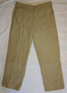 LL Bean Vintage Upland Bird Hunting Pants USA Made Khaki Color 36x29.5 Excellent