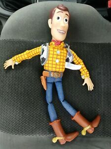 """Toy Story Talking Woody Pull String Doll 16"""" W Andy signed foot Works $37.00"""