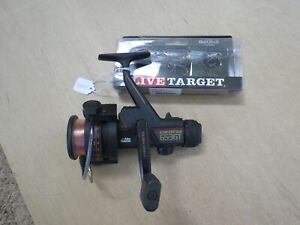 Abu Garcia 653 fishing reel with new line and Target fishing lure lot#15493