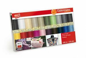 Gutermann Thread Sew All Assortment Pack of 20 Spools ea. 110 yds Polyester $29.50