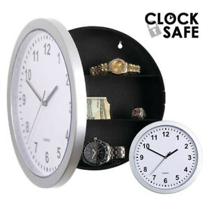 Secret Clock Safe Hidden Wall Jewelry Security Money Cash Compartment Stash Box $24.99