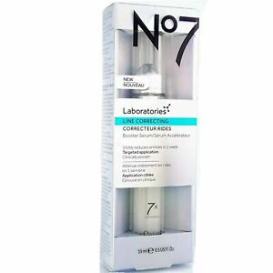 No7 Laboratories LINE CORRECTING Booster Serum 15ml. Huge Saving NEW IN BOX