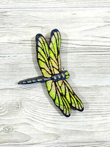 Hand Carved DRAGONFLY Wall Art Chainsaw Wood Carving NEW COLORS $25.00