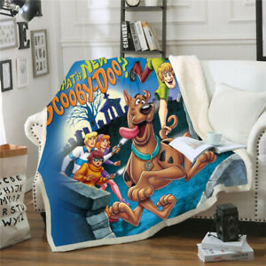 New Scooby Doo 3D Print Sherpa Blanket Sofa Couch Quilt Cover throw blanket $37.09
