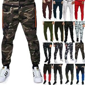 Men Camouflage Pants Jogger Jogger Casual Outdoor Slim Fit Stretch Long Trousers